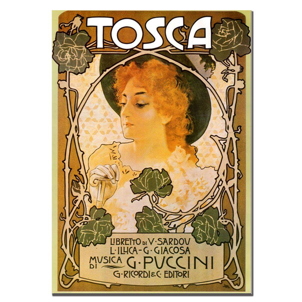 Trademark Fine Art 35 in. x 47 in. Leopoldo Metlicovitz \'Tosca ...