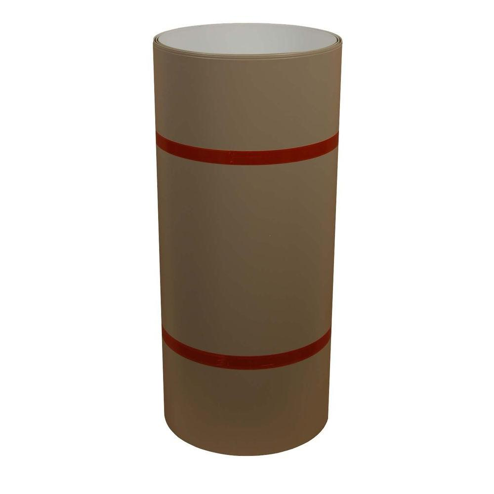 24 in. x 50 ft. Natural Clay and White Aluminum Trim