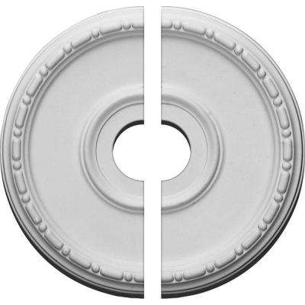 16-1/2 in. O.D. x 3-1/2 in. I.D. x 1-1/2 in. P Medea Ceiling Medallion (2-Piece)