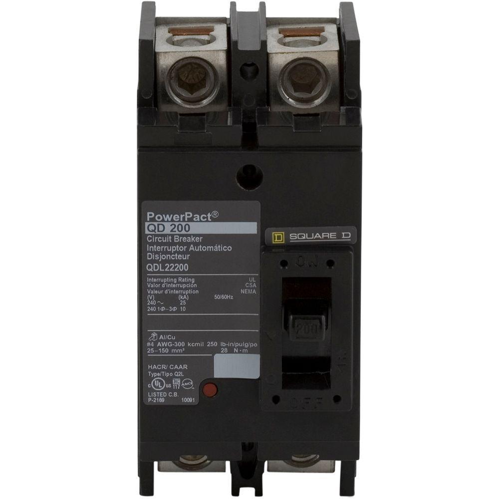 PowerPact 200 Amp Q-Frame Molded Case 2-Pole Circuit Breaker