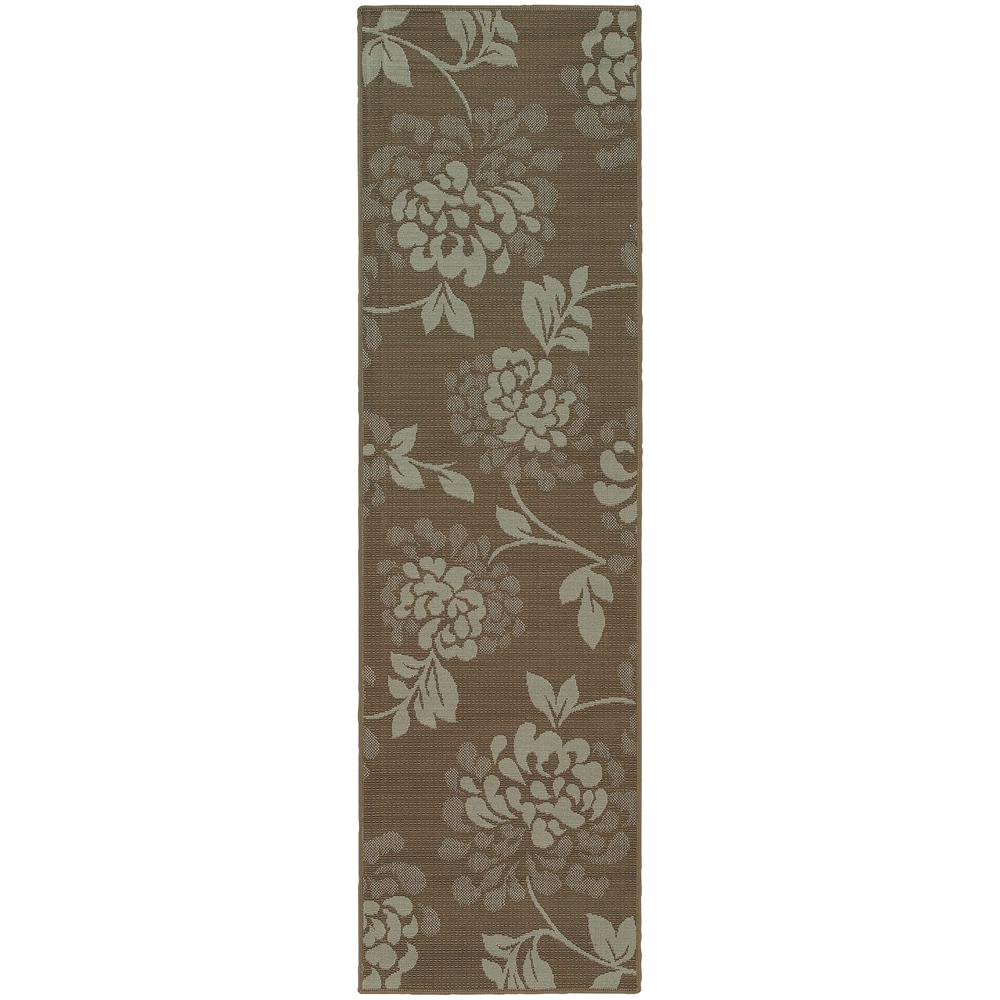 Home Decorators Collection Trinidad Grey 2 Ft 3 In X 7 Ft 6 In Indoor Outdoor Runner