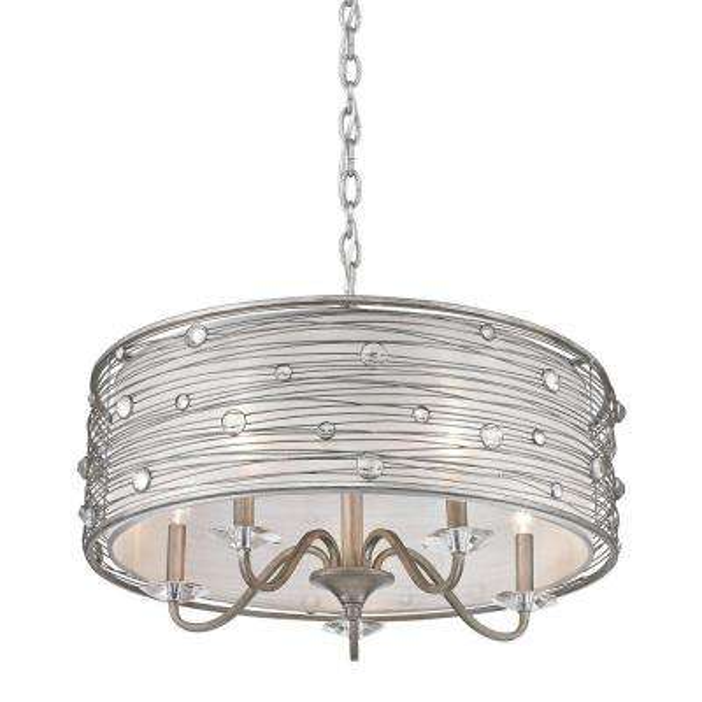 Amalya Collection 5-Light Peruvian Silver Chandelier