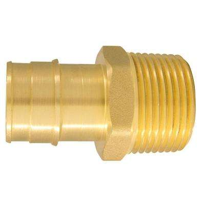 1 in. Brass PEX-A Expansion Barb x 1 in. MNPT Male Adapter
