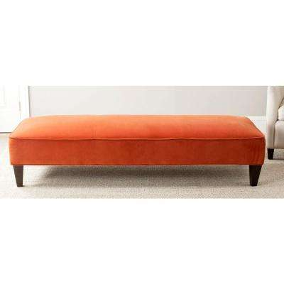 Harlow Pumpkin Orange Bench