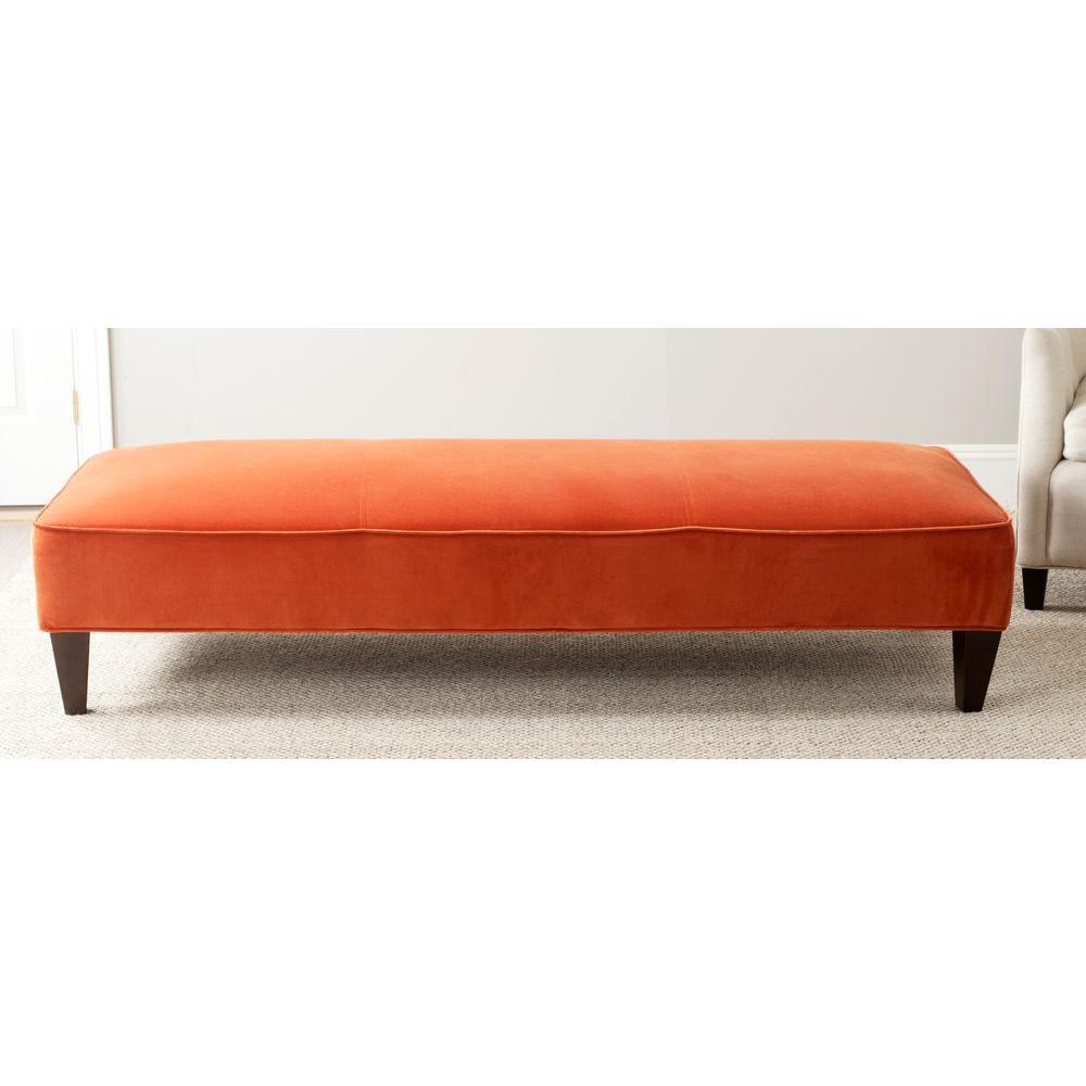 Harlow Pumpkin Orange Bench