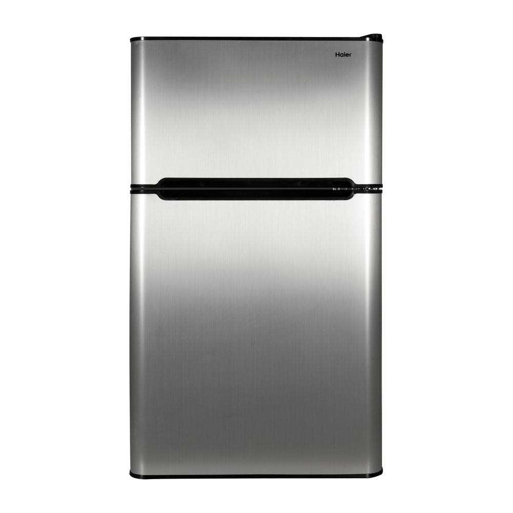 Haier 3.2 cu. ft. Mini Fridge in Virtual Steel on