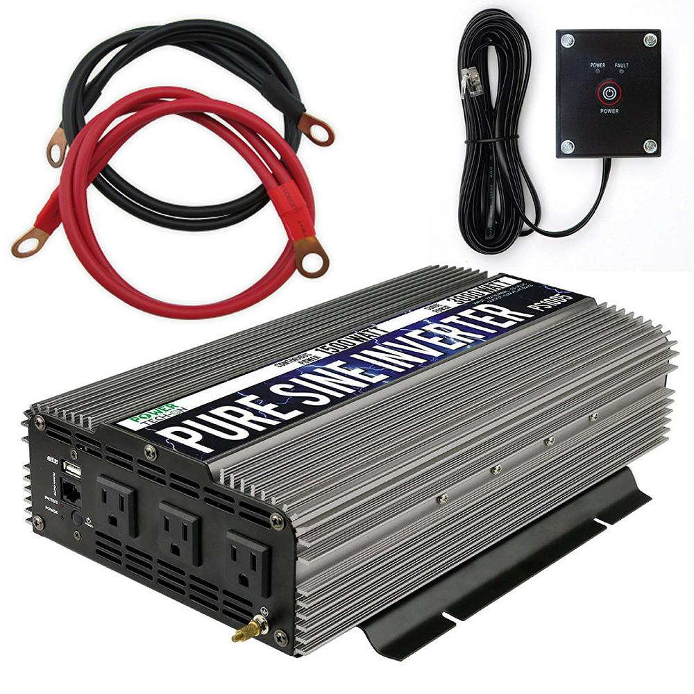 1,500-Watt Continuous/3,000-Watt Peak Pure Sine Wave Inverter
