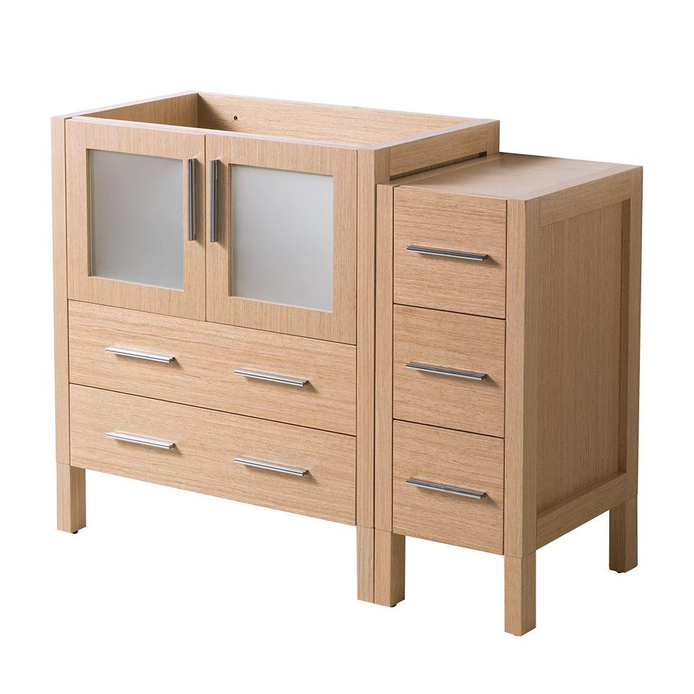 42 in. Torino Modern Bathroom Vanity Cabinet in Light Oak