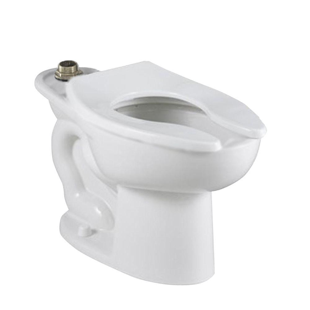 American Standard Madera FloWise 15 in. High EverClean Top Spud Slotted Rim Elongated Flush Valve Toilet Bowl Only in White