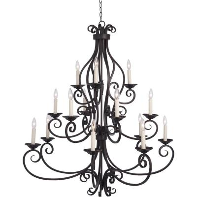 Manor 15-Light Oil Rubbed Bronze Chandelier