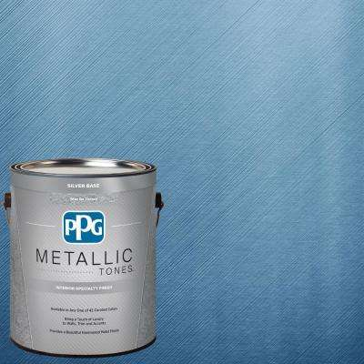 1 gal. MTL113 Abundant Blue Metallic Interior Specialty Finish Paint