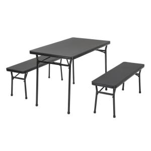 Cosco 3-Piece Red Folding Table and Bench Set-37331RBK1E - The Home ...