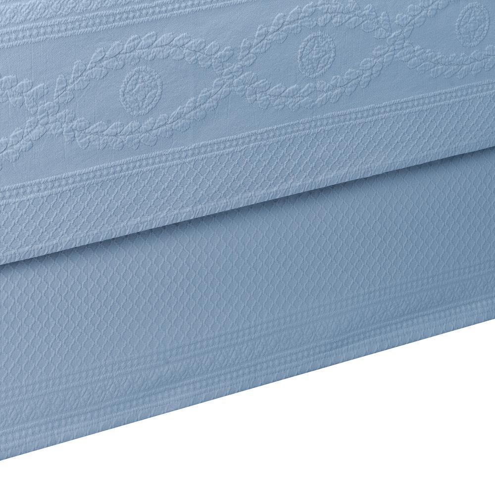 Williamsburg Abby Blue Full Bed Skirt