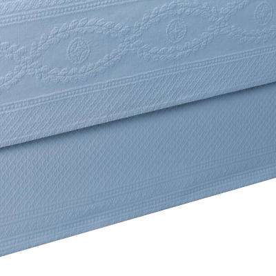 Williamsburg Abby Blue Full Bed Skirt