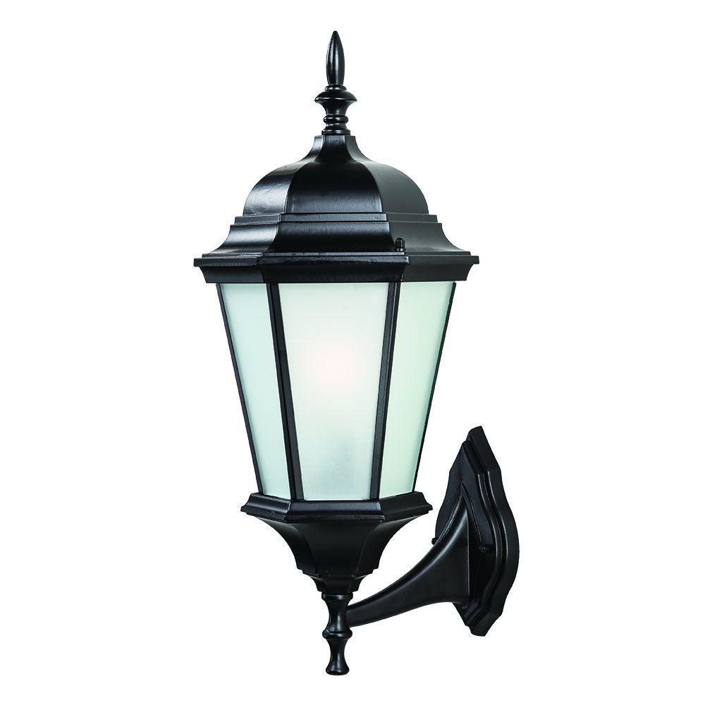Richmond Collection 1-Light Matte Black Outdoor Wall Mount Light Fixture