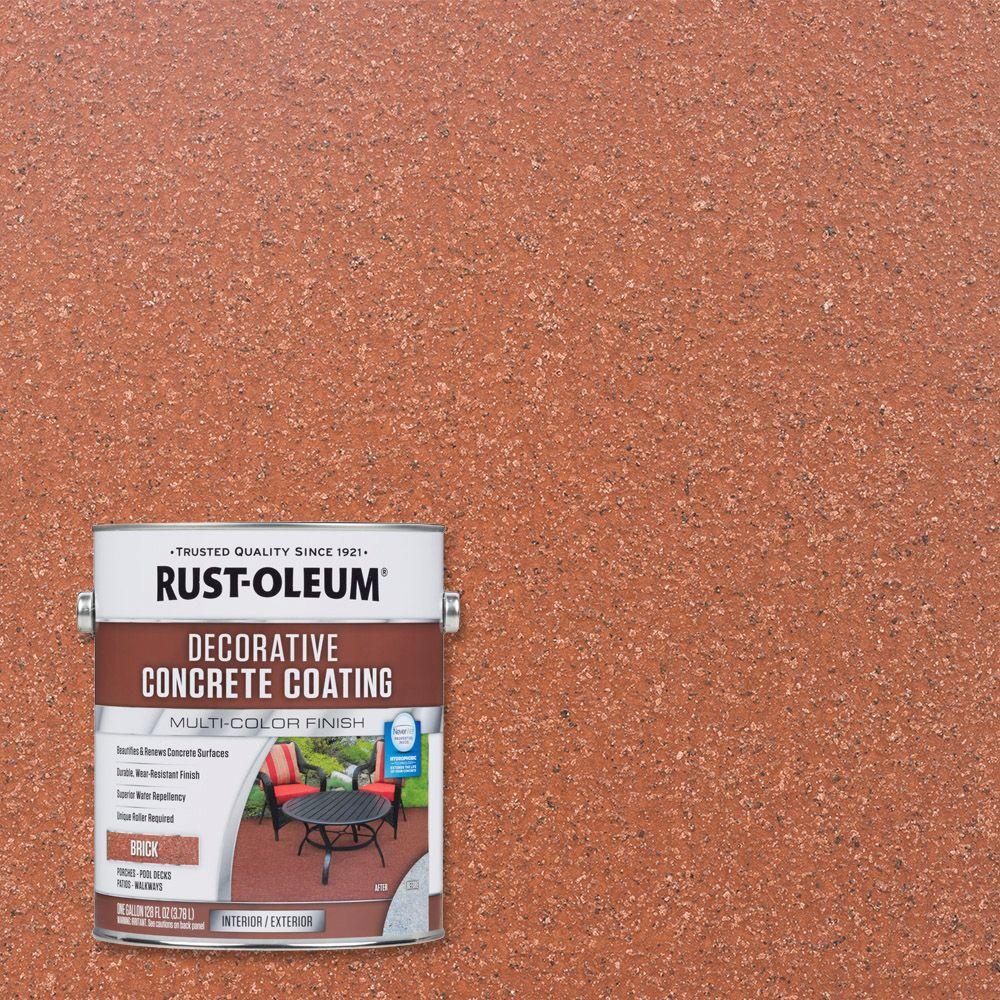 Rust Oleum 1 -gal. Red Brick Decorative Concrete Exterior...