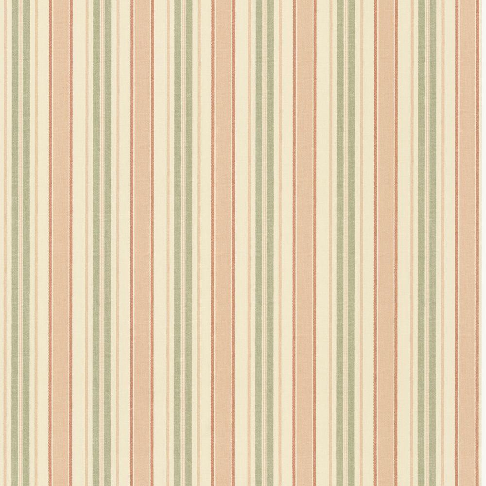 The Wallpaper Company 56 sq. ft. Orange and Green Classic Stripe Wallpaper