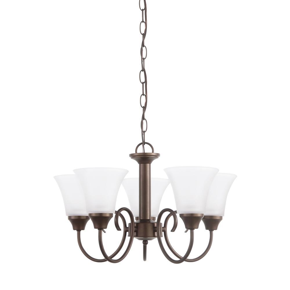 Holman 5-Light Bell Metal Bronze Chandelier