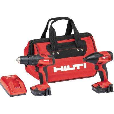 12-Volt Li-Ion Cordless Rotary SF 2H-A Hammer and SID 2-A Impact Driver Combo with CA-B12 Adapter and Bag (2-Tool)