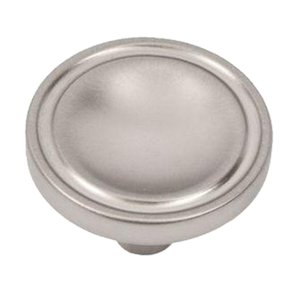 null Harnett 1-1/4 in. Satin Nickel Round Cabinet Knob-DISCONTINUED