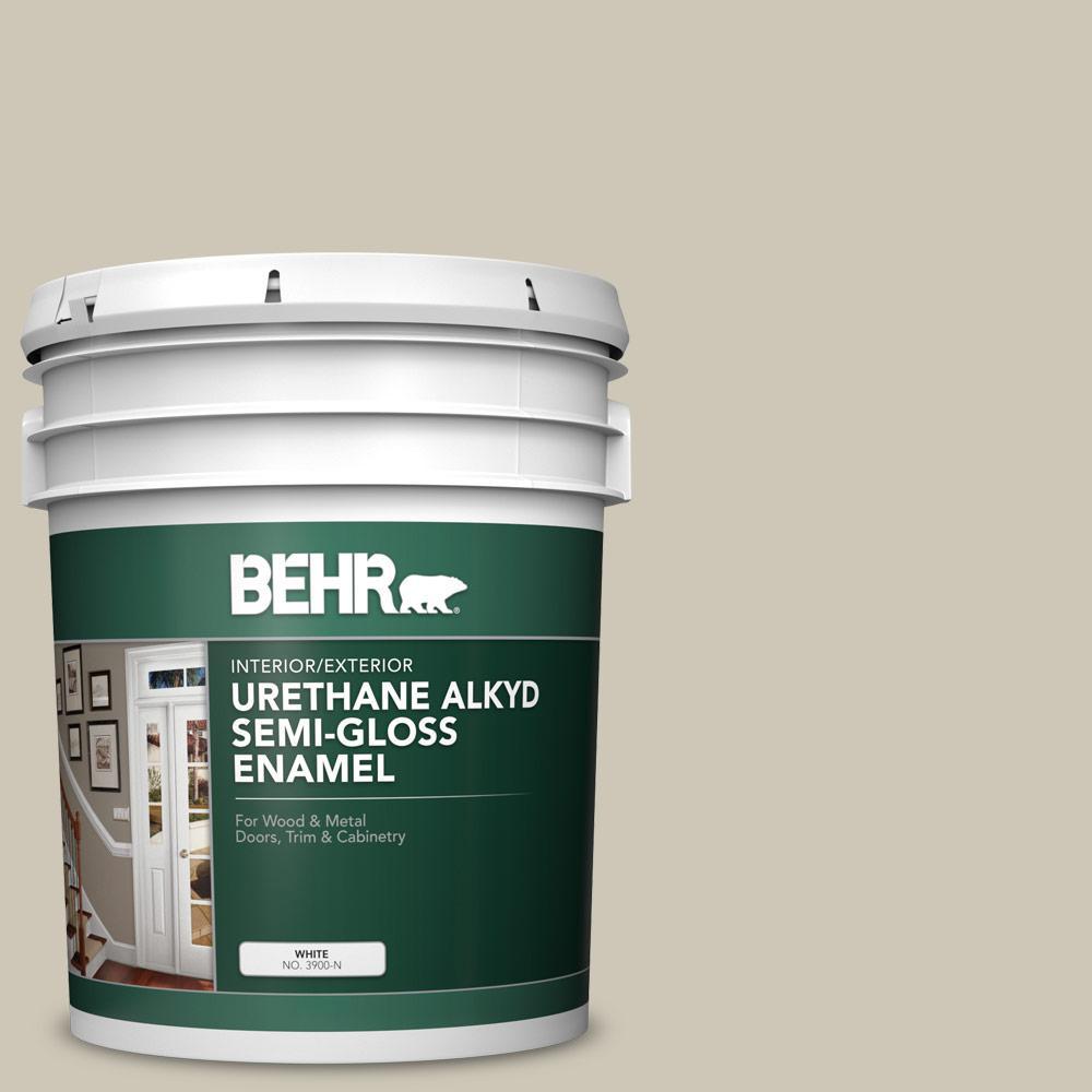 5 gal. #PPU8-16 Coliseum Marble Urethane Alkyd Semi-Gloss Enamel Interior/Exterior Paint