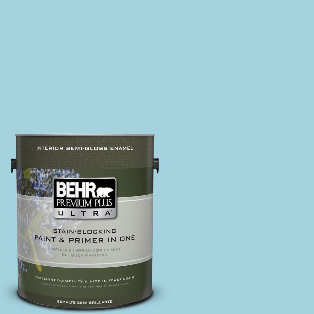 BEHR Premium Plus Ultra 1-gal. #M470-3 Midwinter Mist Semi-Gloss Enamel Interior Paint