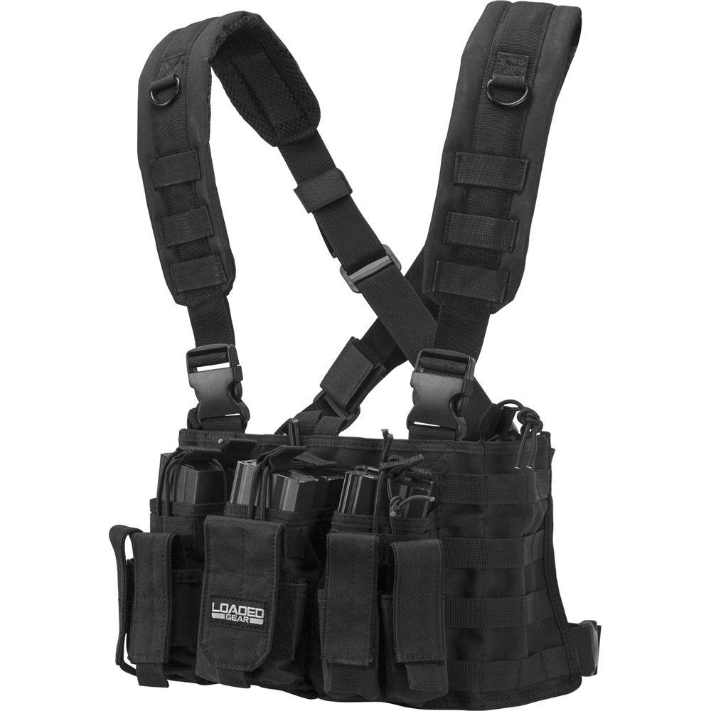 Loaded Gear 20.5 in. VX-400 Tactical Chest Rig, Black