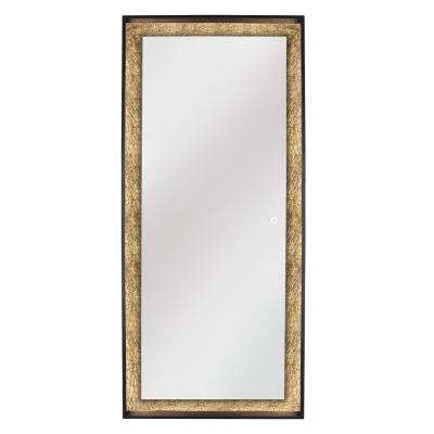 Apollo 28 in. W x 64 in. H Framed Freestanding Mirror with Touch On/Off in Glod