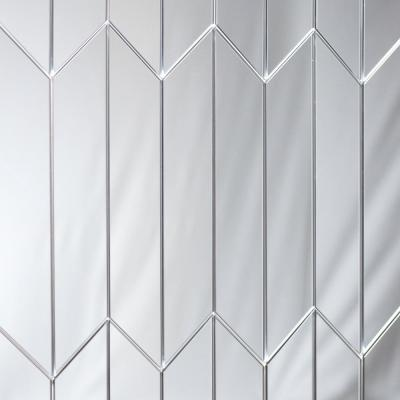 Reflections Silver Deco 4 in. x 12 in. Glass Mirror Wall Tile (16.2 Sq.Ft./Case)
