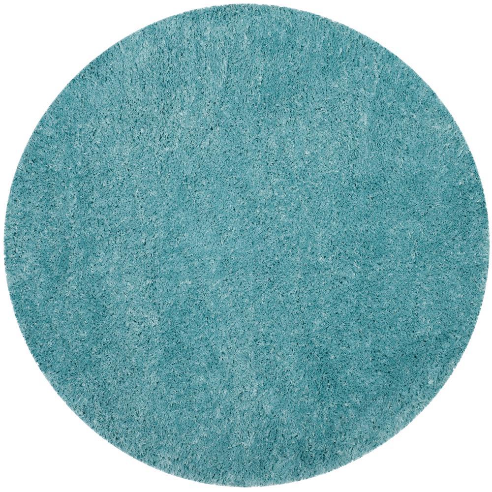Safavieh Polar Shag Light Turquoise 6 Ft. 7 In. X 6 Ft. 7