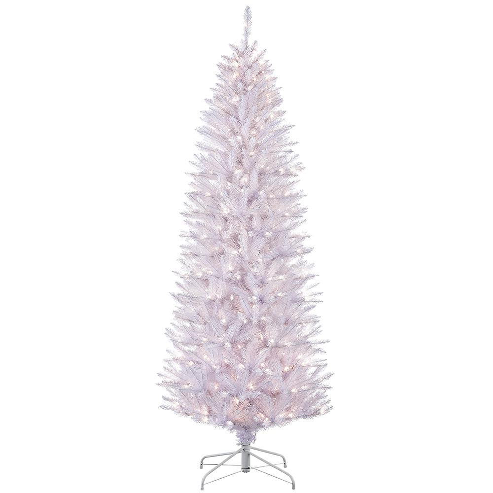 6 5 Ft Pre Lit Incandescent White Pencil Fraser Fir Artificial Christmas Tree With 250 Ul Listed Clear Lights