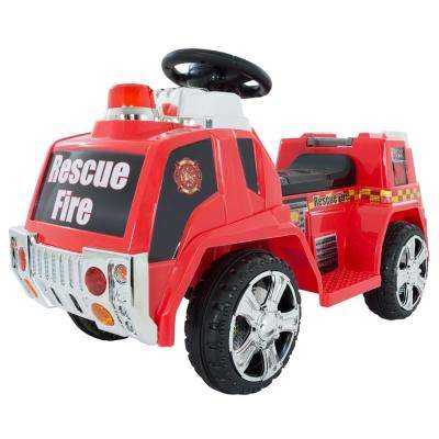 Battery Powered Ride on Toy Fire Truck Car in Red