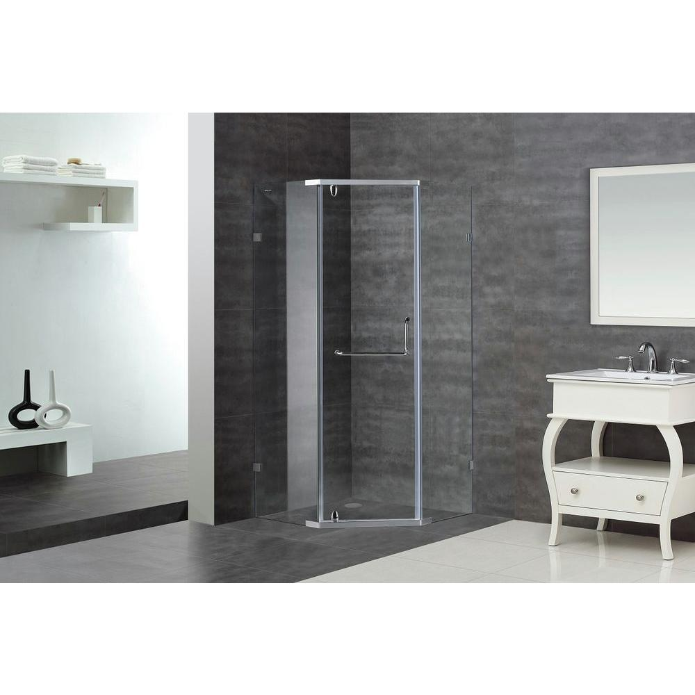 Aston SEN973 36 In. X 36 In. X 75 In. Semi Framed