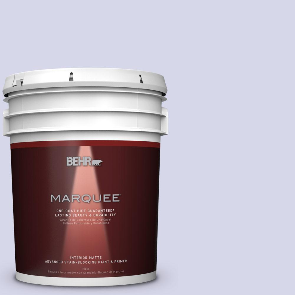5 gal. #T12-17 Violet Water Matte Interior Paint