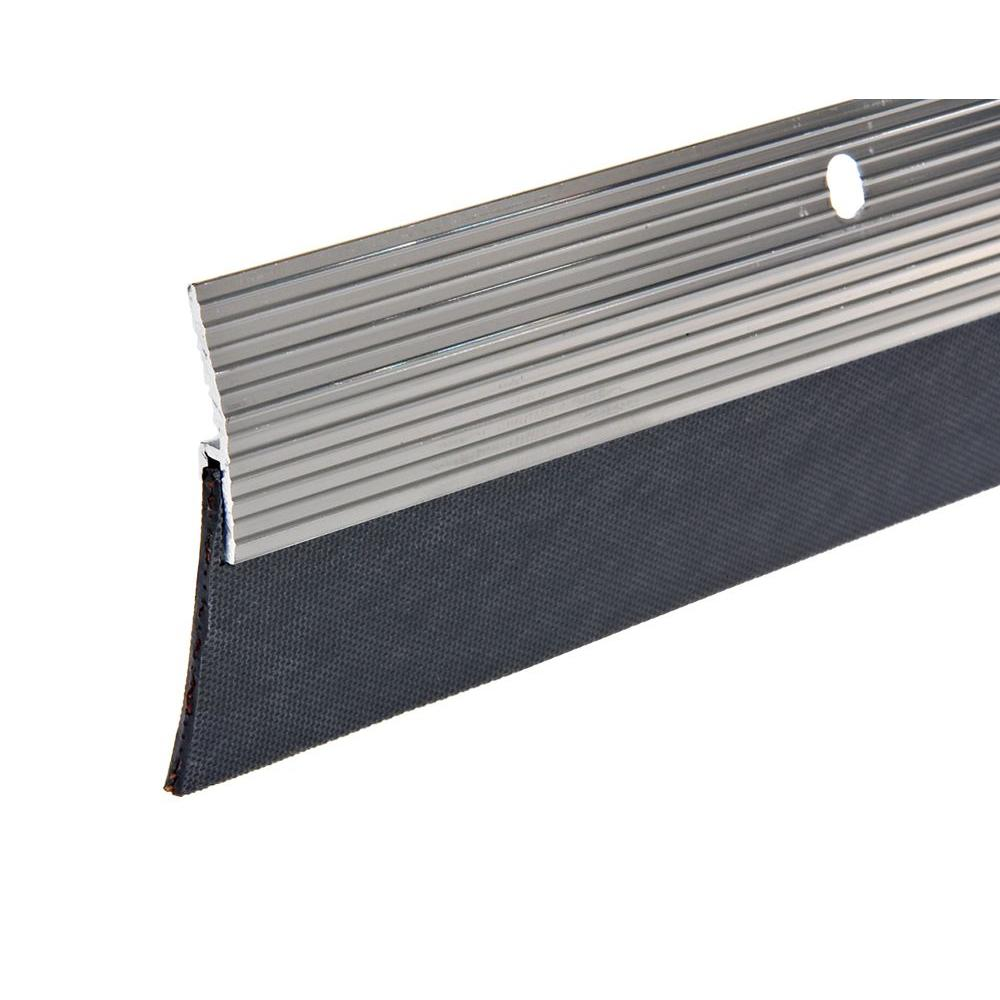 E/O 2 in. x 36 in. Silver Reinforced Rubber Door Sweep