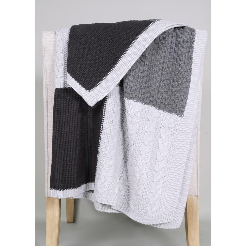 Multi-Knit Sweater Throw