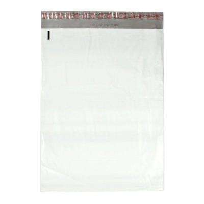 14.5 in. x 19 in. White / Silver Flat Poly Mailers Envelope with Adhesive Easy Close Strip (100-Case)