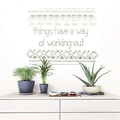Brown Things Work Out Wall Quote Decal