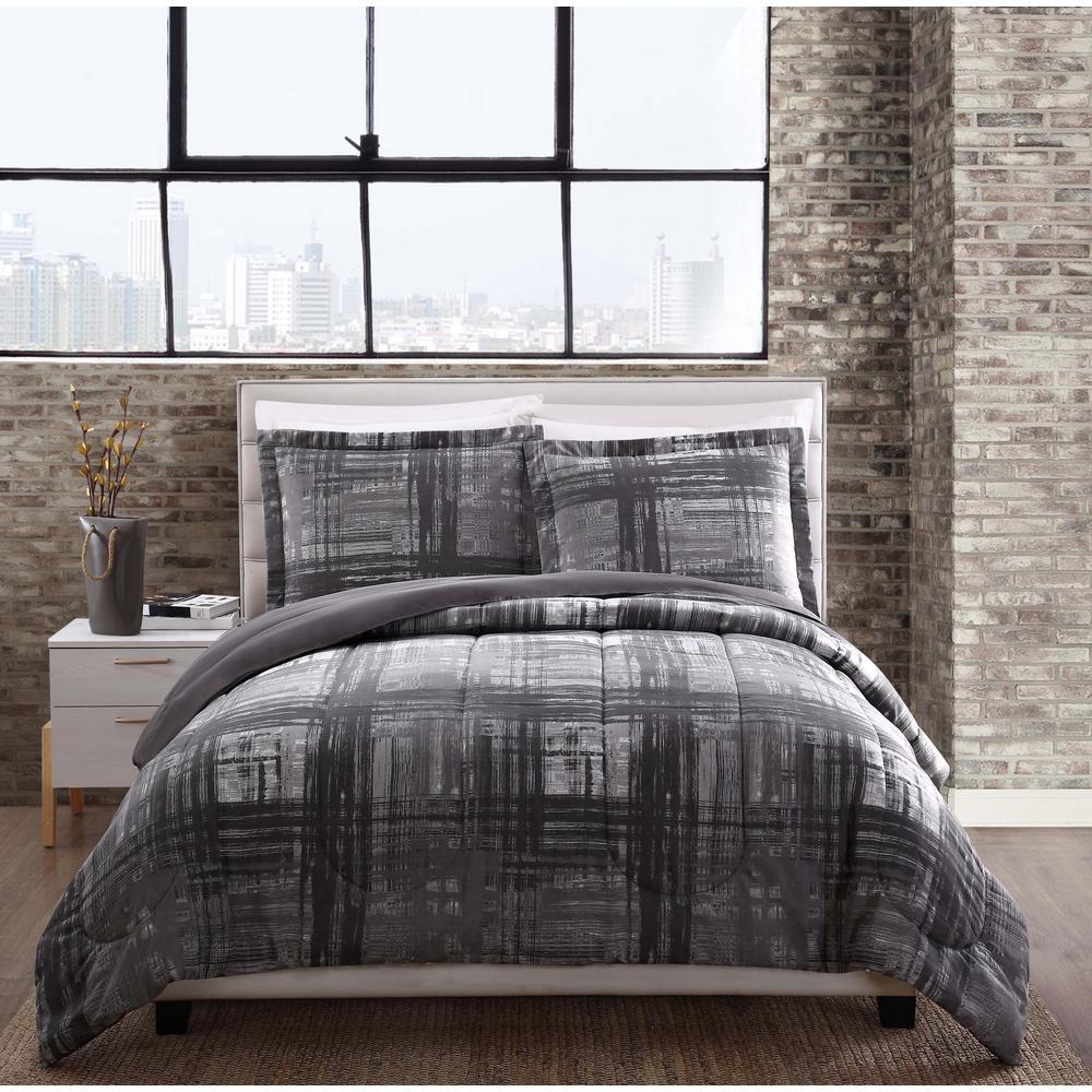 Camden 3-Piece Gray Queen Comforter Set