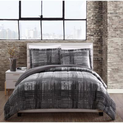 Camden 3-Piece Gray Queen Comforter Set