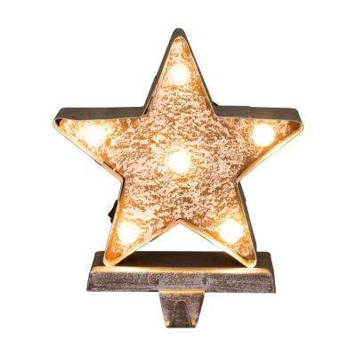 7.5 in. H Marquee LED Lighted Christmas Stocking Holder Star