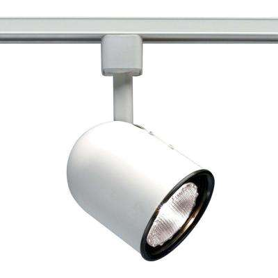 1-Light PAR30 White Short Bullet Cylinder Track Lighting Head