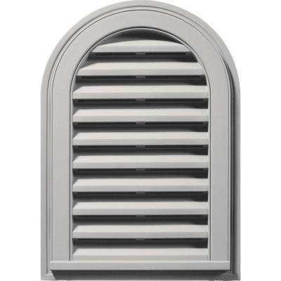 14 in. x 22 in. Round Top Gable Vent in Paintable