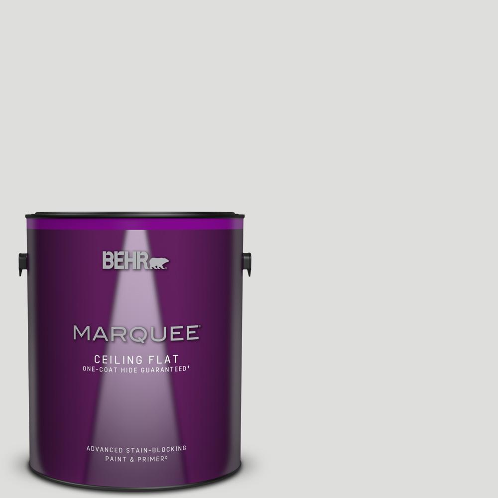 BEHR MARQUEE 1 gal. #MQ3-55 White Lie One-Coat Hide Ceiling Flat Interior Paint and Primer in One