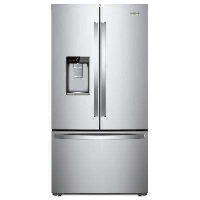 36 in. W 24 cu. ft. French Door Refrigerator in Fingerprint Resistant Stainless Steel, Counter Depth