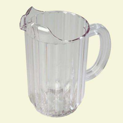 48 oz., 7.67 in. High Polycarbonate Clear Pitcher (Case of 6)