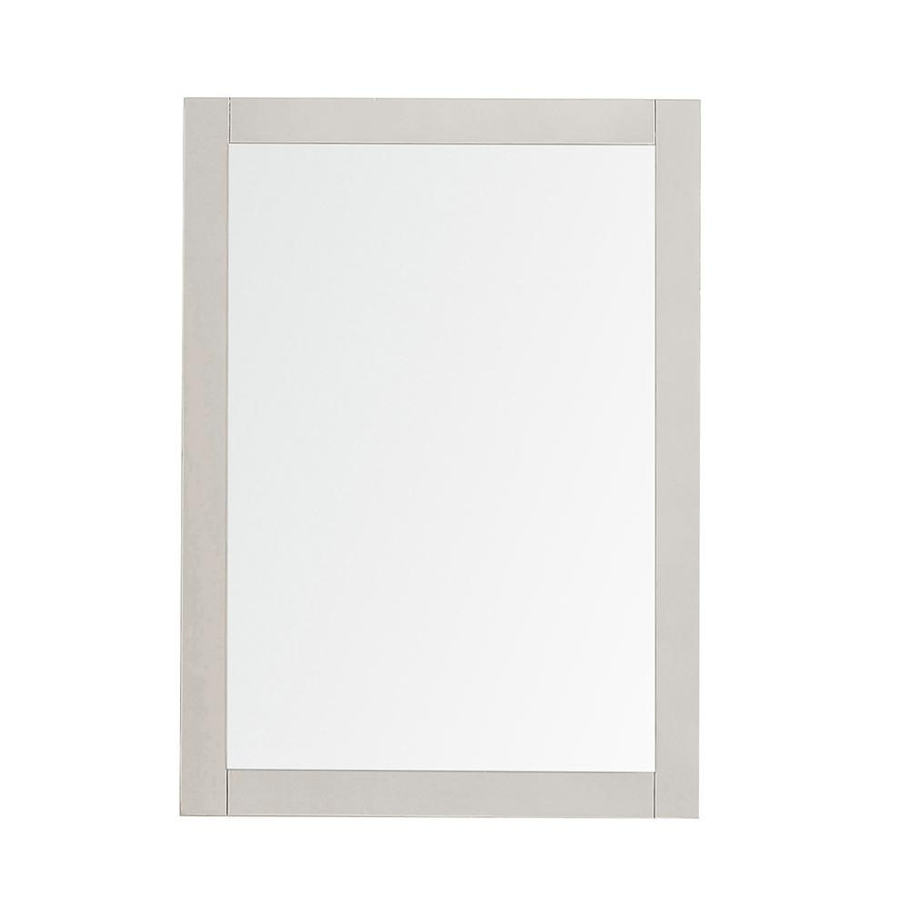 Home Decorators Collection Orillia 30 in. x 22 in. Single Framed Wall Mount Mirror in Greige