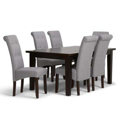 grey white dining room luxury cosmopolitan 7piece dove grey dining set room sets kitchen furniture the home depot