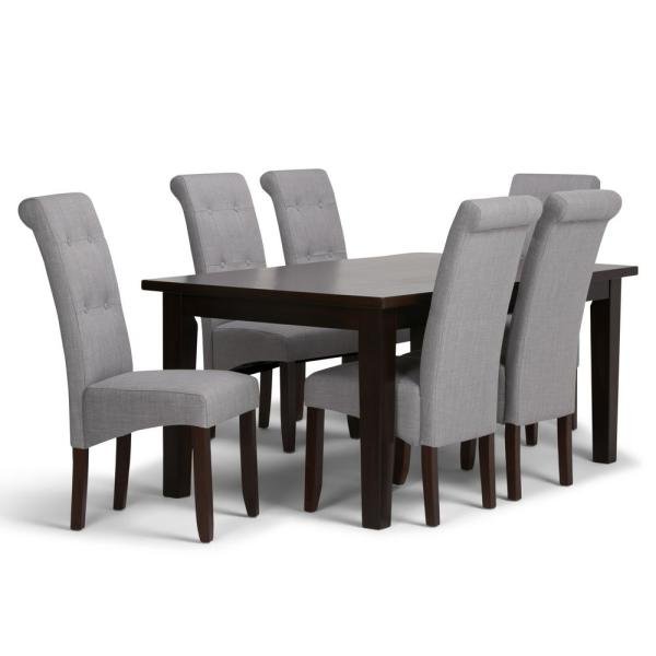 Simpli Home Cosmopolitan 7-Piece Dining Set With 6