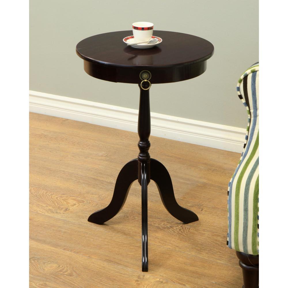 MegaHome Espresso End Table